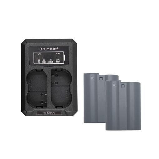 Nikon EN-EL15 Dual Battery and Charger Kit