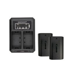 Canon LP-E6 Dual Battery and Charger Kit